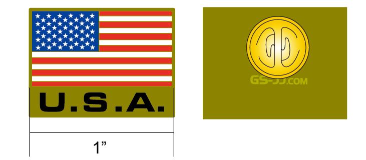 USA flag pins