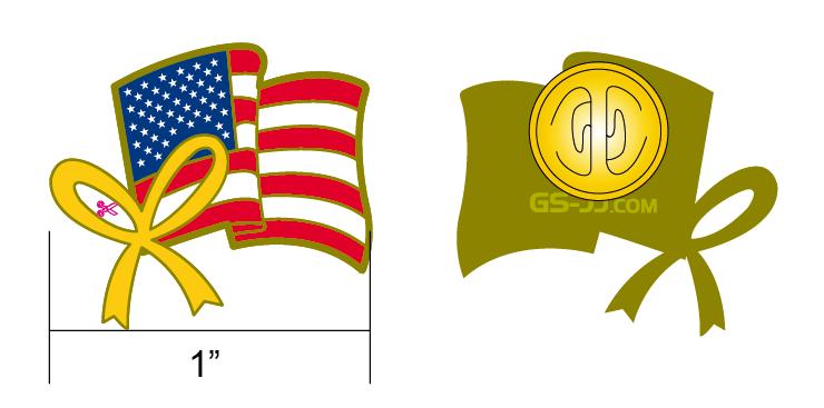 custom American pin