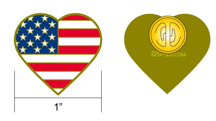 American flag pins