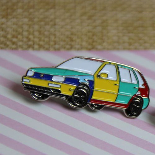 Soft Enamel Lapel Pins for VW Car