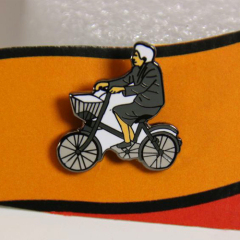 Hard enamel lapel pins for bicycle