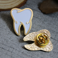 Soft Enamel Lapel Pins for Tooth