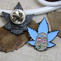 Enamel Pins for Leaf Man