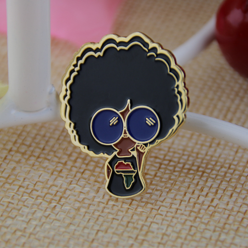 Soft enamel pins for girl