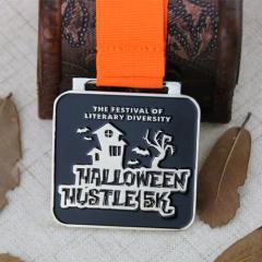 Custom Running Medals for Halloween Hustle 5K