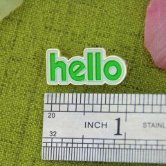 Lapel Pins for Hello