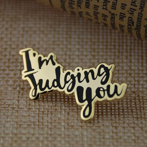 I'm Judging You Lapel Pins