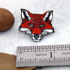 Red Fox Cloisonne Pins