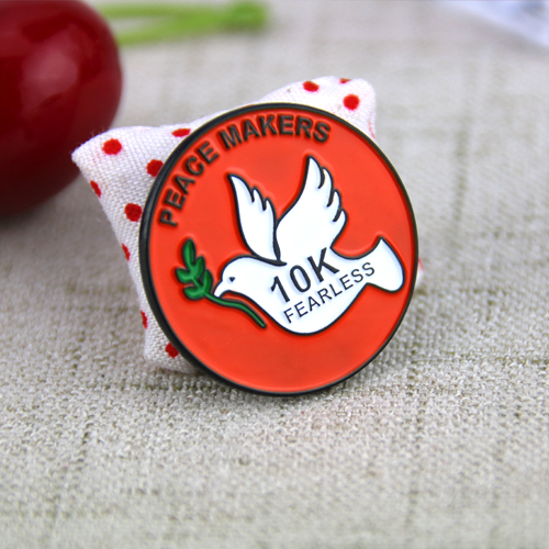 Soft Enamel Pins for Peace Dove