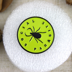 Soft Enamel Pins for Social Parasite