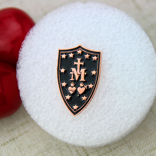 Custom Lapel Pins for Cross Shield