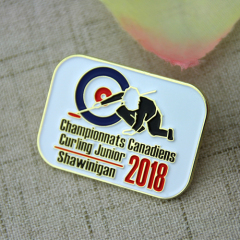 Custom Lapel Pins for Curling