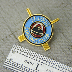 Curling Club Custom Lapel Pins
