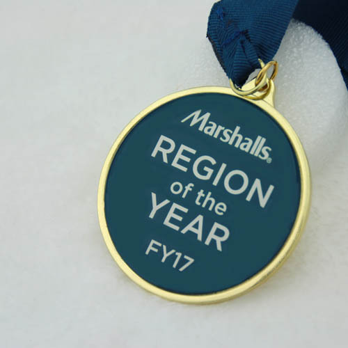 Custom Soft Enamel Medals with gold finish