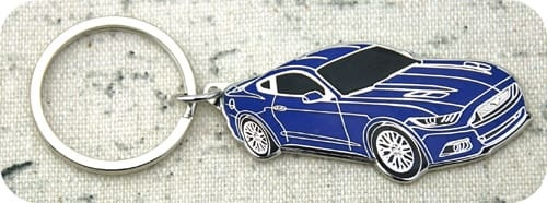Blue Car Keychain