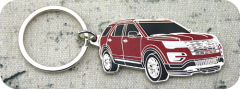 Car keychain with color
