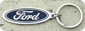 Soft Enamel Ford Keychain