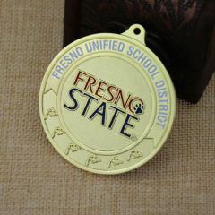 School District Custom Sandblast Medals