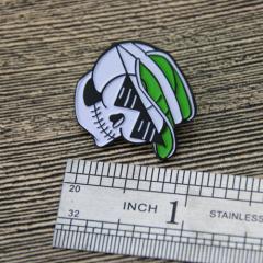 Enamel pin for Skeleton