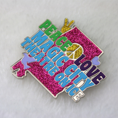 Custom Enamel Pins for Peace And Love