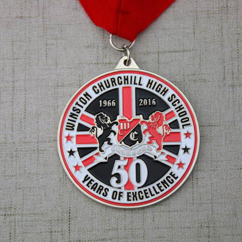 High School Custom Medals