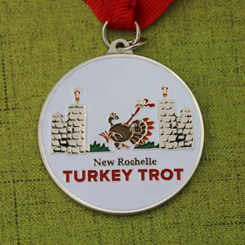 Turkey Trot Customized Run Medals