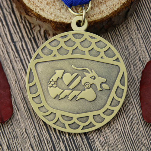 Dragon Boat Custom Antique Medals