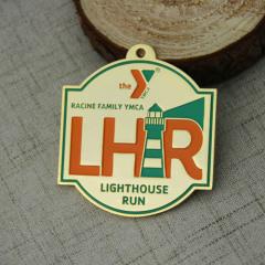 Light House Run Custom Gold Medals