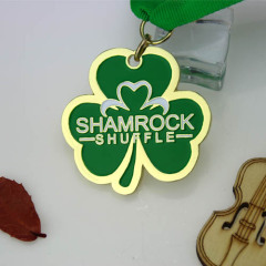 Shamrock Shuffle Races Custom Medals