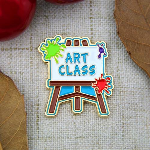 art class enamel pins