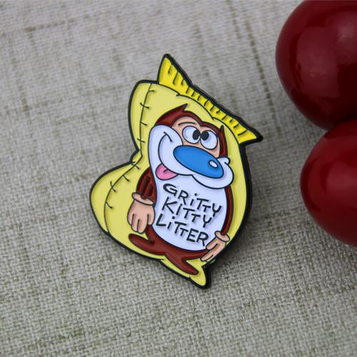 gritty kitty litter lapel pins