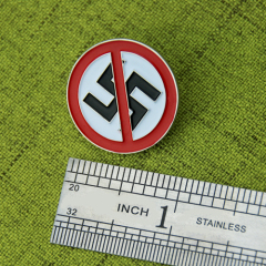 Anti- Nazi Enamel pins