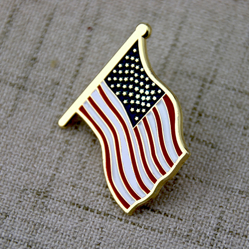 American Flag Enamel Pins