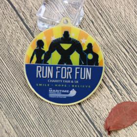 Charity Fair and 5K Run Custom Medals