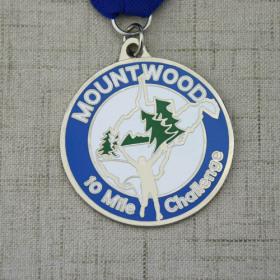 Mount Wood 10 miles Race Custom Medals