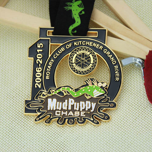 10th Annual Mudpuppy Chase Race Custom Medals