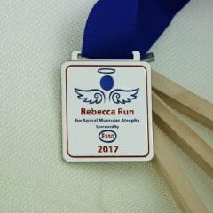 Rebecca Run Custom Silver Medals