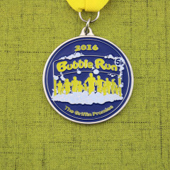 Bubble Run Custom Soft Enamel Medals