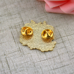 Hello and Flower Lapel Pins