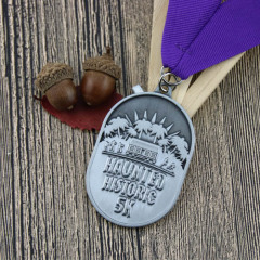 Haunted Historic 5K Race Custom Medals