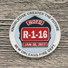 Fire Department Custom Challenge Coins