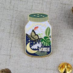 World in Bottle Die Struck Pins