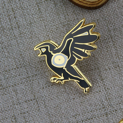 Black Crow Lapel Pins