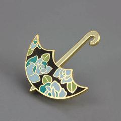 Umbrella Custom Hard Enamel Pins