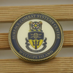Surface Combat Systems Center Custom Coins