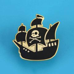 Pirate Ship Custom Hard Enamel Pins