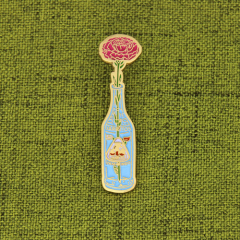 Flower And Bottle Cheap Pins