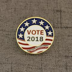Vote 2018 Flag Lapel Pins