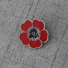 Poppy Flower Lapel Pins