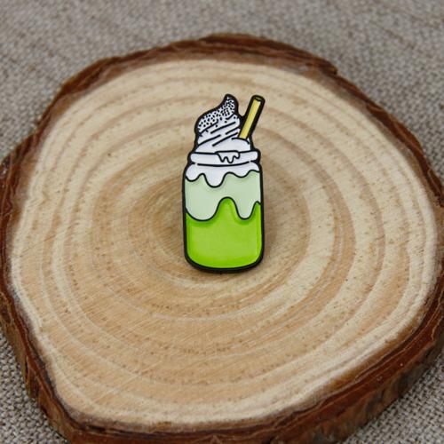Milky Tea Ice Cream Soft Enamel Pins